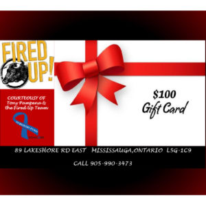 Fired Up! Restaurant $100 Gift Card #2