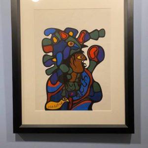 Framed  Norval Morrisseau