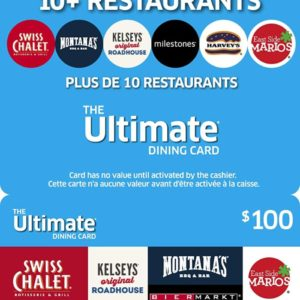 $100 Ultimate Dining eGift Card #1