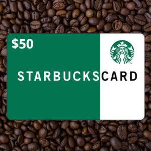 $50 Starbucks Gift Card #1